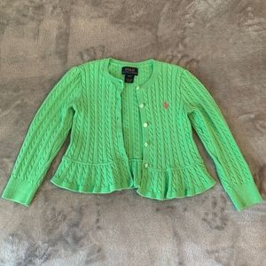 Green Polo Cardigan